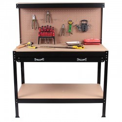 Stół warsztatowy, garażowy 120x60x150cm 1-szuflada