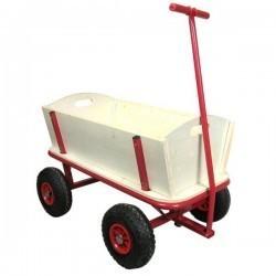 Wózek ogrodowy drewniany bez plandeki