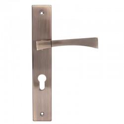 Klamka drzwiowa CUBA 90/klucz antic