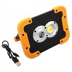 Lampa warsztatowa COB LED 10W + 5W LED USB
