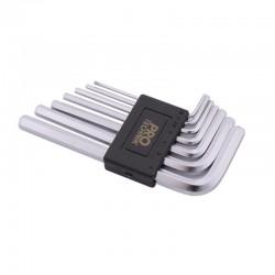 Klucze imbusowe krótkie CrV 1.5- 6mm 7cz