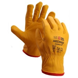 Rękawice DRIVER kozia sk lico 9 żółte PROTECHNIK