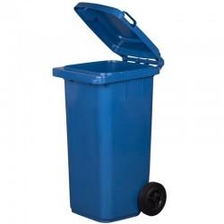 Kosz pojemnik na śmieci 120l niebieski