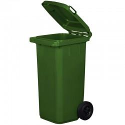 Kosz pojemnik na śmieci 120l zielony