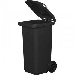 Kosz pojemnik na śmieci 120l grafitowy czarny