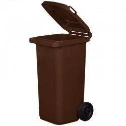 Kosz pojemnik na śmieci 120l brązowy