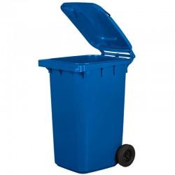 Kosz pojemnik na śmieci 240l niebieski