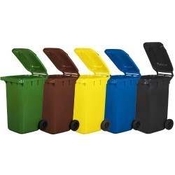 Kosz pojemnik na śmieci 240l żółty