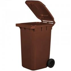 Kosz pojemnik na śmieci 240l brązowy