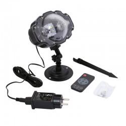 Projektor świąteczny LED zewnętrzny białe śnieżki