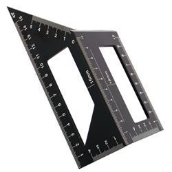 Kątownik stolarski japoński 3D 45/90° alum PRO+-42462