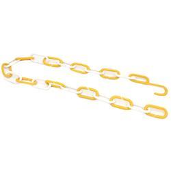 Łańcuch plastik 1m żółto-biały z