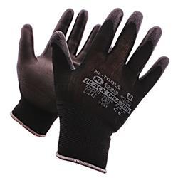 Rękawice DRAGON poliuretan BLACK 10