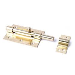 Zasuwka hiszpańska 455-120mm złota blister