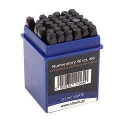 Numeratory zestaw alfanumeryczny 4mm /36