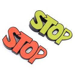 "Stoper podkładka klin pod drzwi okna napis ""STOP"""