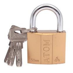 Kłódka żeliwna Atom 50mm /blister klucz kodowany