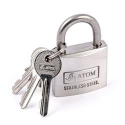Kłódka ATOM stal nierdzewna 40mm/blister