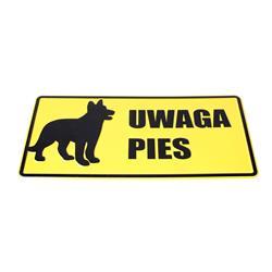 Tablica 14x29 UWAGA PIES (WILCZUR)