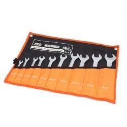 Klucz płaski zestaw 10szt 6-22mm Cr.V PRO-TECHNIK