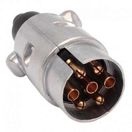 Wtyk gniazda 7 pin 12V aluminiowy WGAL